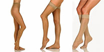 Pantyhose, thigh high, or knee high ultra sheer stockings for women at Elio's Foot Comfort centre