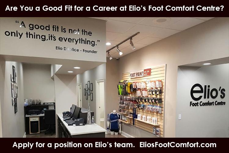 Careers Pedorthists Chiropidists | Elios Foot Comfort Centre