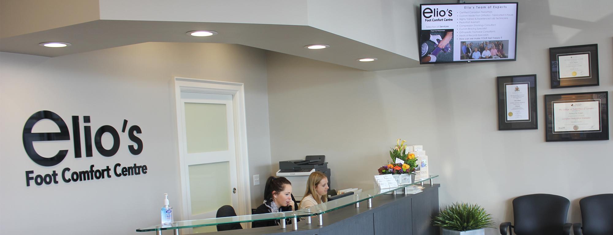 Foot Pain Solution Niagara | Elio's Foot Comfort Centre reception