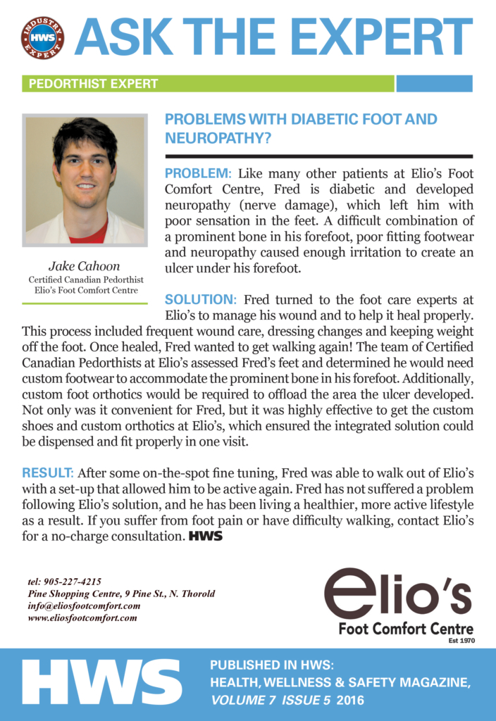 Treatments for Diabetic Feet - Ask Elio's Experts