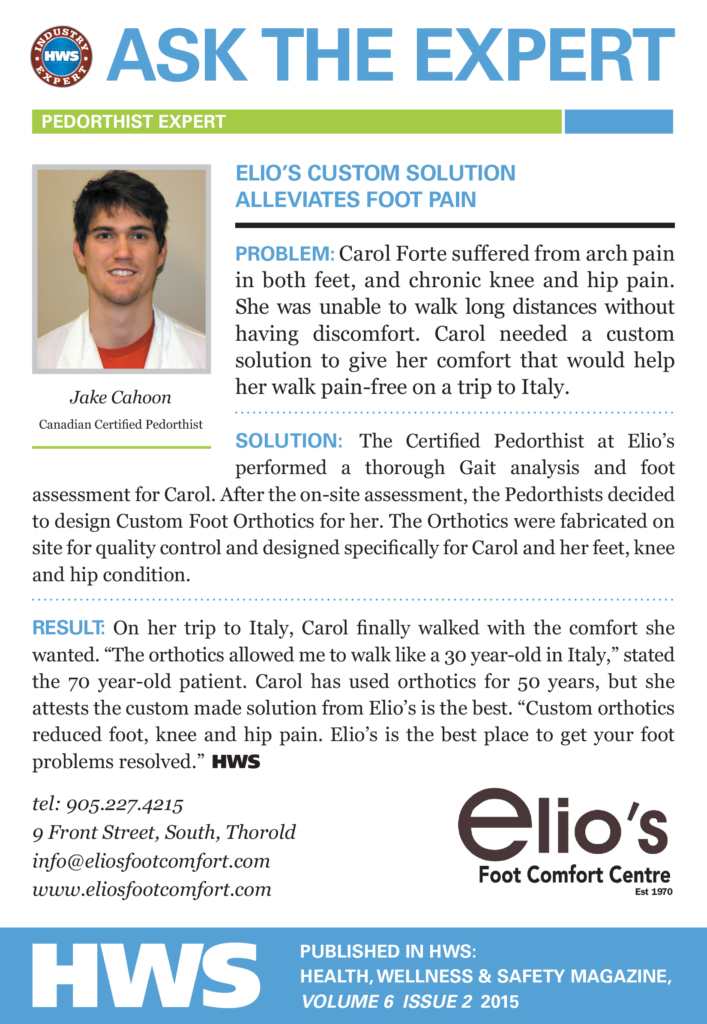 Ask Elio's Expert - arch pain - knee pain