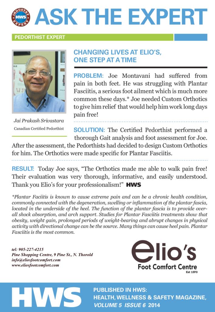 Ask Elio's Expert