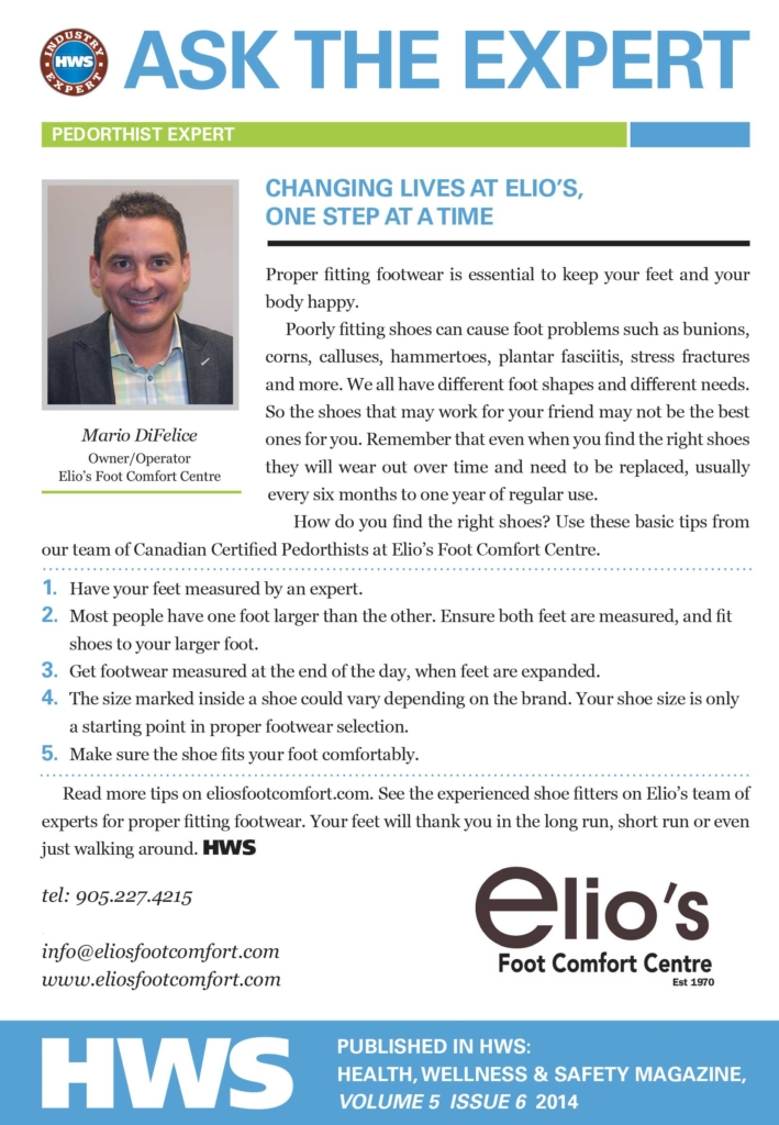 Benefits of Proper Fitting Footwear - Ask Elio's Experts