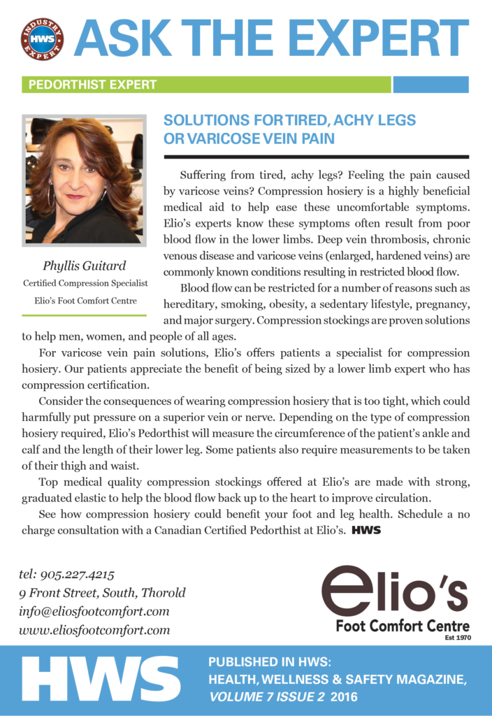 Compression Stockings Solution Varicose Vein | Elio's experts