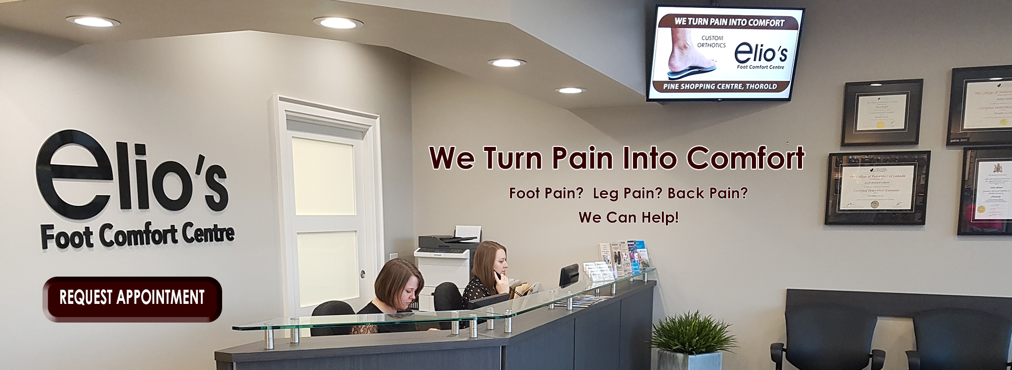 Foot pain solution by Elio's Foot Comfort Centre