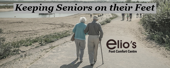 Seniors Feet Walking
