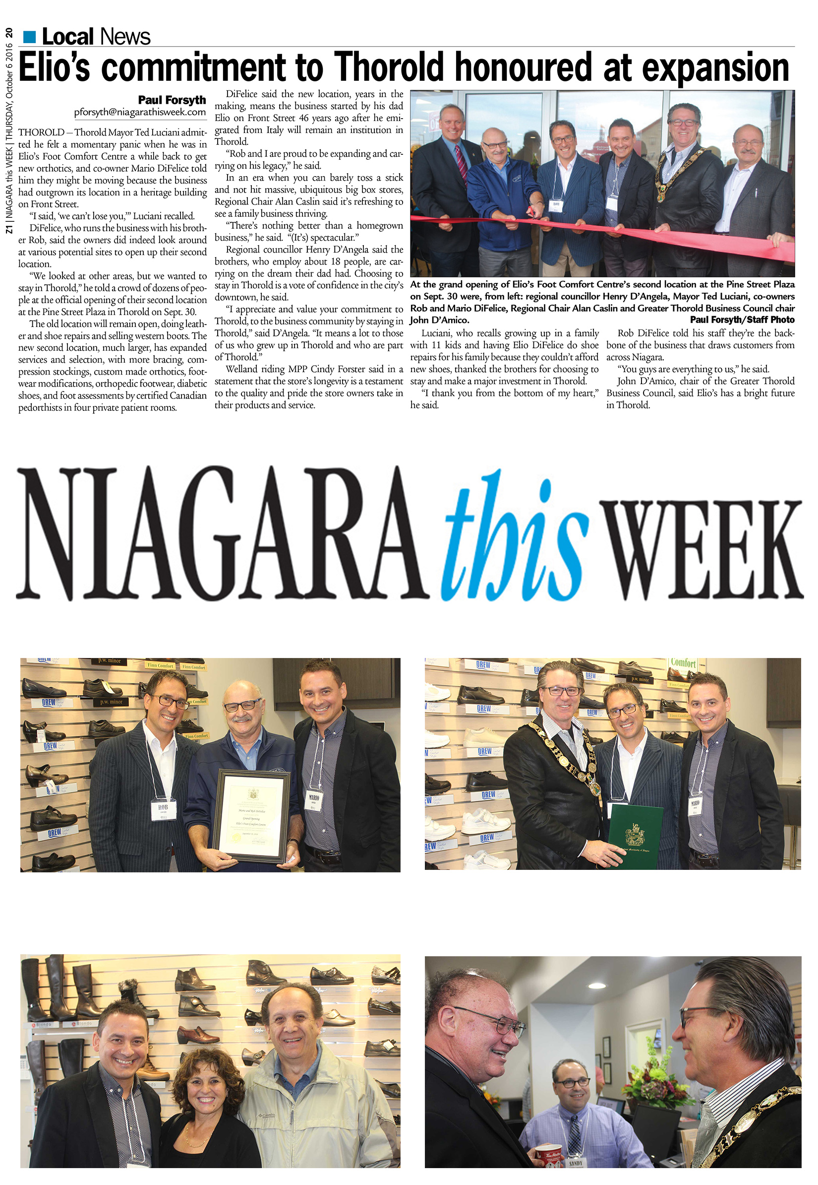 Elios Commitment Thorold Honoured _ Niagara This Week