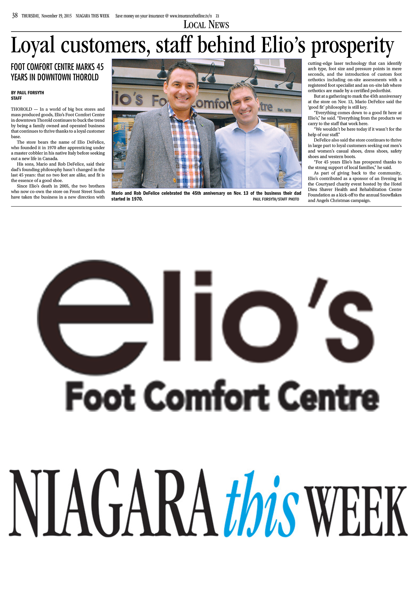 Loyal customers, staff behind Elio's prosperity