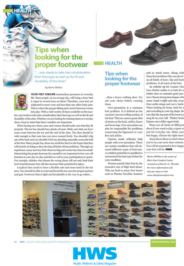 Elio's Tips for Proper Footwear __ HWS Magazine