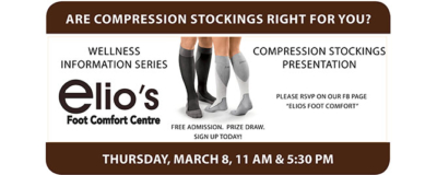 compression stockings event Elio's Foot Comfort