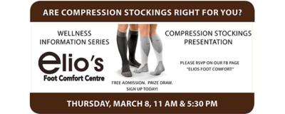 compression stockings event Elio's Foot Comfort