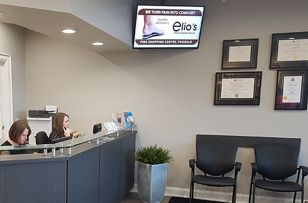 Reception Desk | Elio's Foot Comfort Centre