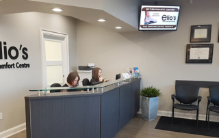reception desk Elio's Foot Comfort Centre