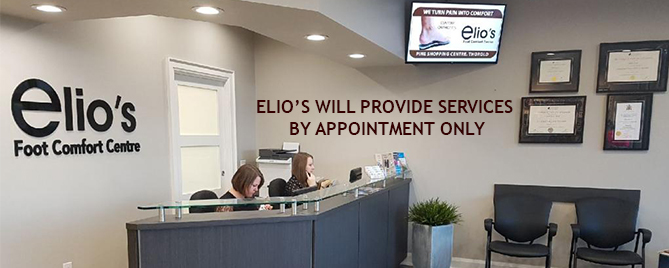 Service by Appointment Only Elios