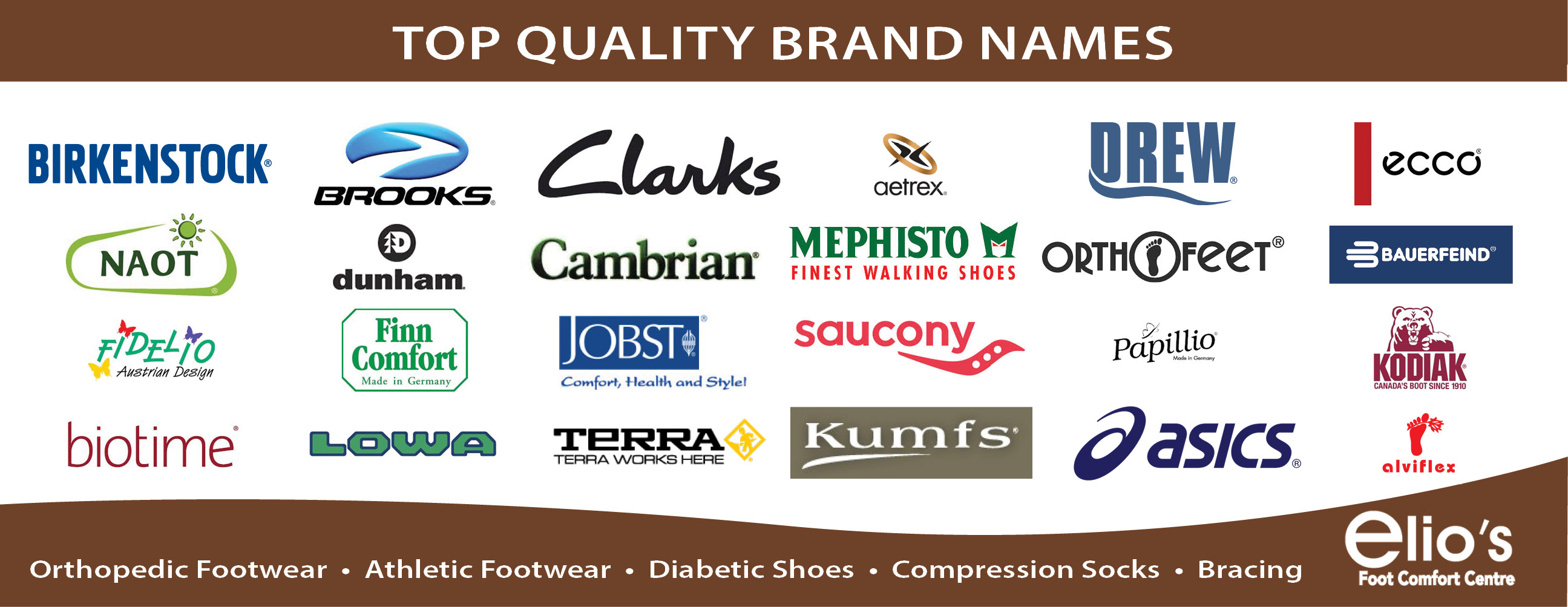 Brands Elio's Foot Comfort Centre