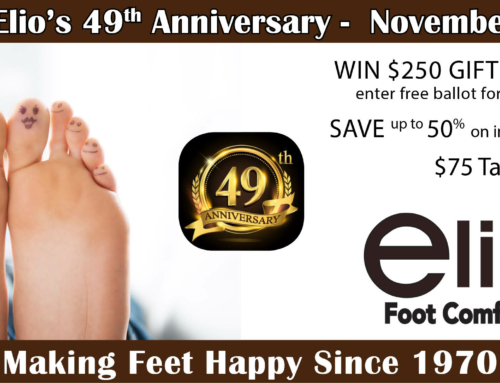 Elio's 49th Anniversary Event | Win | Save | Celebrate Foot Health